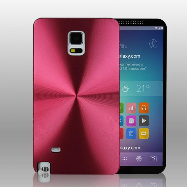 三星 Galaxy Note 4 鐳射旋轉CD紋手機硬殼 Samsung N9100 N9106 金屬質感背殼新款潮流保護殼【預購】