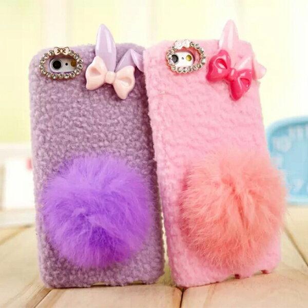 ☆蘋果 iPhone 6 4.7吋 手機殼 可愛毛球兔子手機套 Apple 6 軟膠手機保護套【清倉福利】