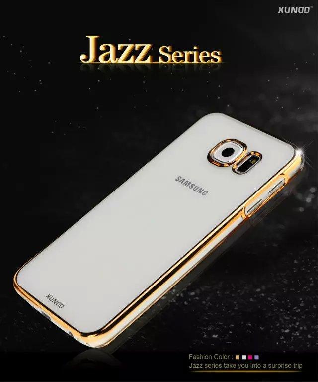 三星Galaxy S6 訊迪XUNDD爵士系列超薄電鍍透明殼 Samsung G9200保護殼