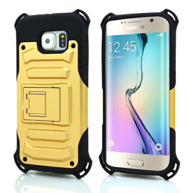 三星Galaxy S6 Edge G9250金剛鎧甲二合一系列手機殼 防摔保護殼 Samsung S6 Edge 防摔硬殼 支架保護殼