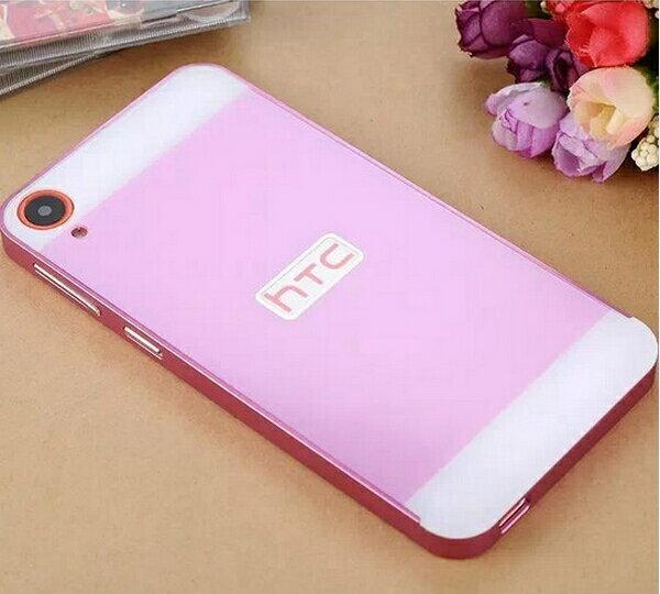 HTC ONE E9+ 手機保護殼 金屬邊框+壓克力背板二合一手機殼 宏達電E9 plus PC背蓋保護套 保護殼