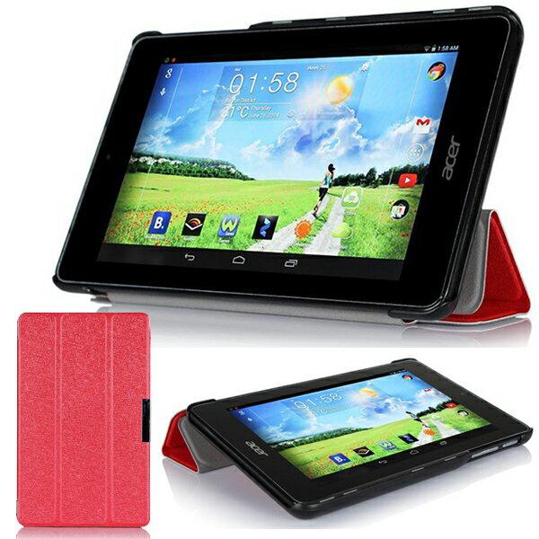 宏碁Acer B1-730HD 7吋保護套 文逸超薄三折蠶絲紋平板皮套 休眠 保護皮套【預購】