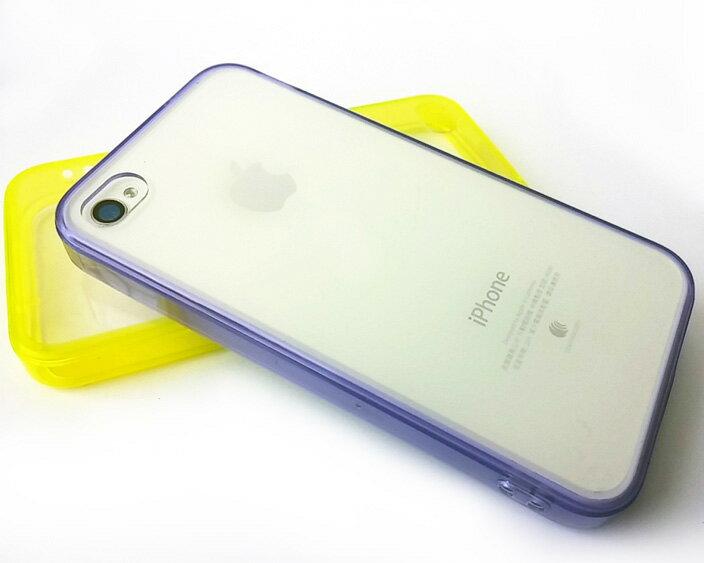 蘋果iPhone4 4S 糖果色自帶防塵塞軟邊透明殼 apple iPhone4S 果凍套