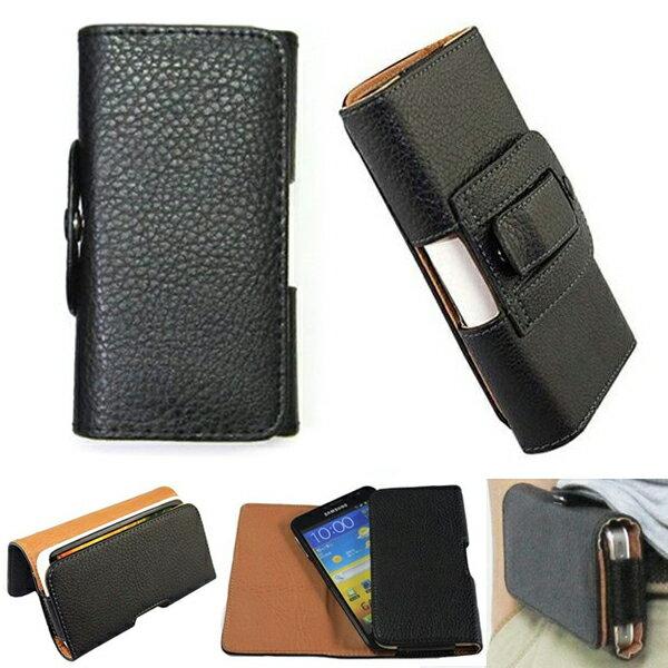 3.5吋螢幕通用手機皮套 荔枝紋橫掛 掛腰式皮套 iphone 4/4S 保護套 外殼