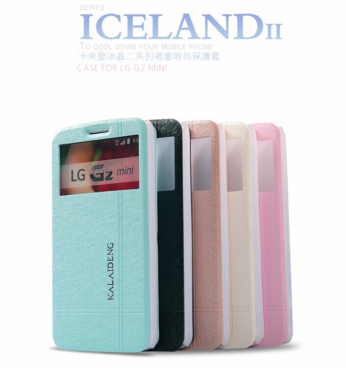 LG G2 MINI 保護套 卡來登冰晶二系列視窗手機皮套 G2 mini 時尚防水保護殼【預購】