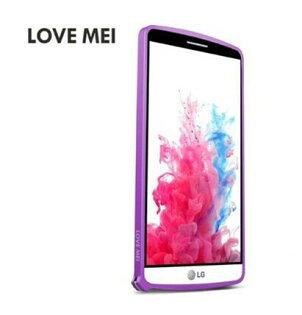 【清倉】LGG3Lovemei金屬免螺絲海馬扣邊框樂金G3D855手機殼保護殼