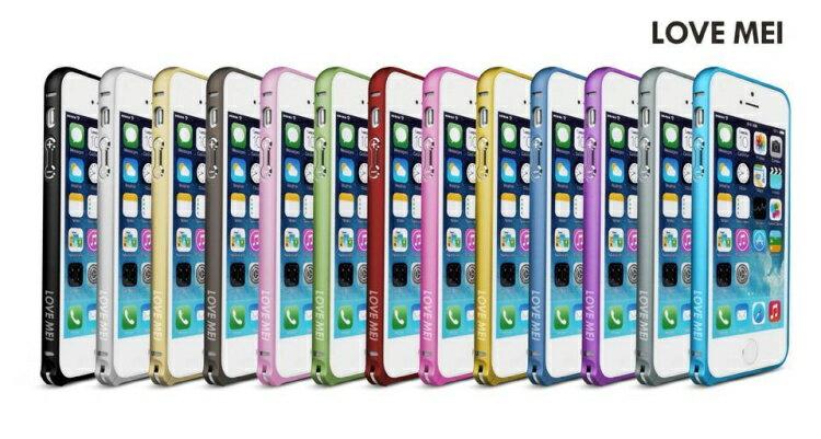 蘋果iphone5 保護殼LOVE MEI 金屬免螺絲海馬扣邊框 iphone5S/5手機殼 【預購品】