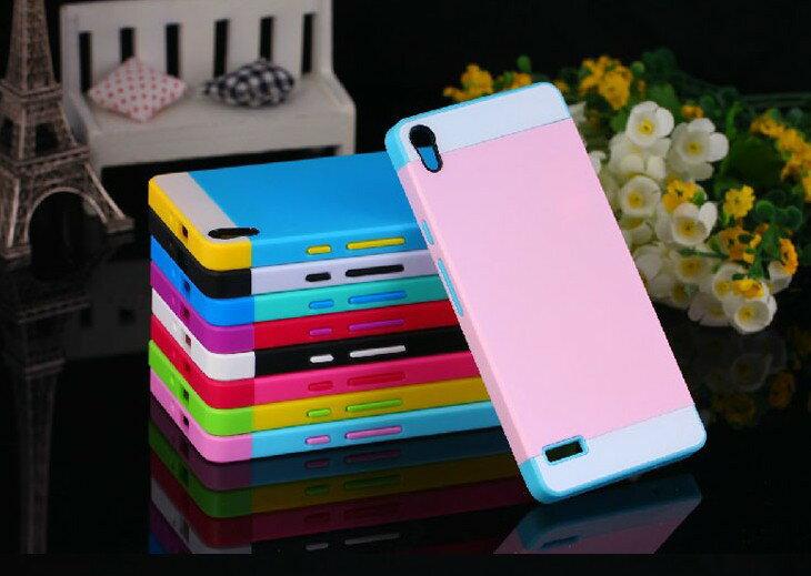 ☆華為Ascend P6 NX CASE諾訊拼色三合一手機殼 P6 時尚雙色組合式保護殼