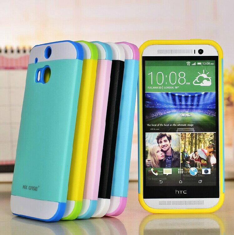 ☆HTC M8 諾訊拼色三合一保護套 Nx Case 宏達電 One M8 時尚雙色組合式手機套 手機硬殼 保護殼