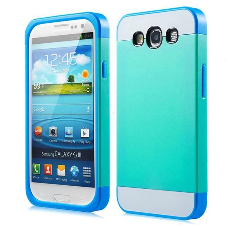 ☆三星i9300 Galaxy S3保護套 NX CASE諾訊拼色三合一手機殼i9308 時尚雙色組合式保護殼