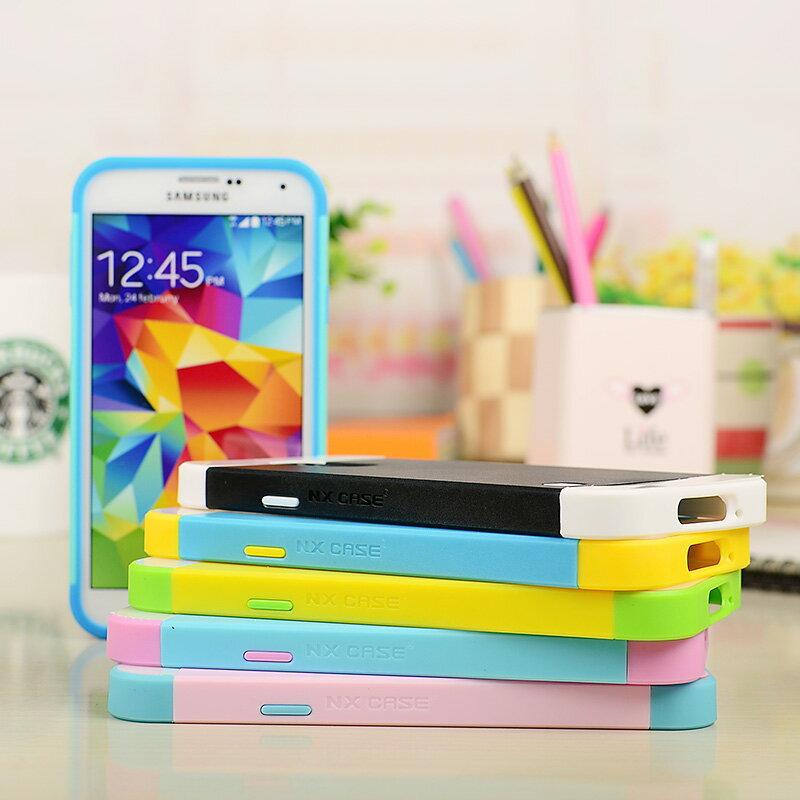 ☆三星Galaxy S5 NX CASE諾訊拼色三合一手機殼 i9600手機套 時尚雙色組合式保護殼
