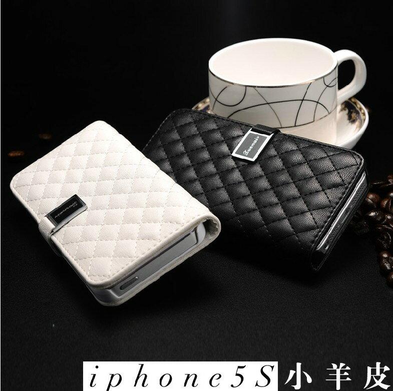 蘋果iphone5  5S  SE真皮皮套 雪奈兒愛尚小羊皮系列(不帶掛繩)Apple 5