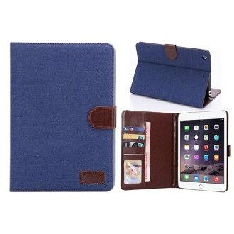 蘋果ipad mini3保護套 牛仔布紋支架插卡皮套ipad mini 3側翻平板保護殼【預購】