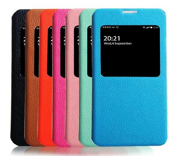 ☆三星Galaxy Note 3 保護套 真皮世家頭層皮荔枝紋開窗皮套N9000 N9002真皮智能手機套【清倉】