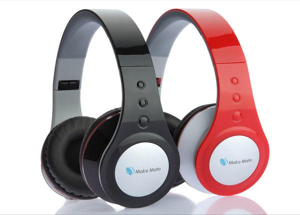 頭戴式耳機貝殼美MakemateEP-149頭戴式發燒音樂耳機重低音線控遊戲運動穿戴耳機【預購】