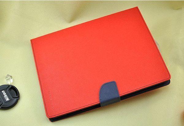 蘋果ipad mini 1/2/3 平板保護套 韓國MERCURY GOOSPERY雙色皮套 通用款撞色支架插卡皮套