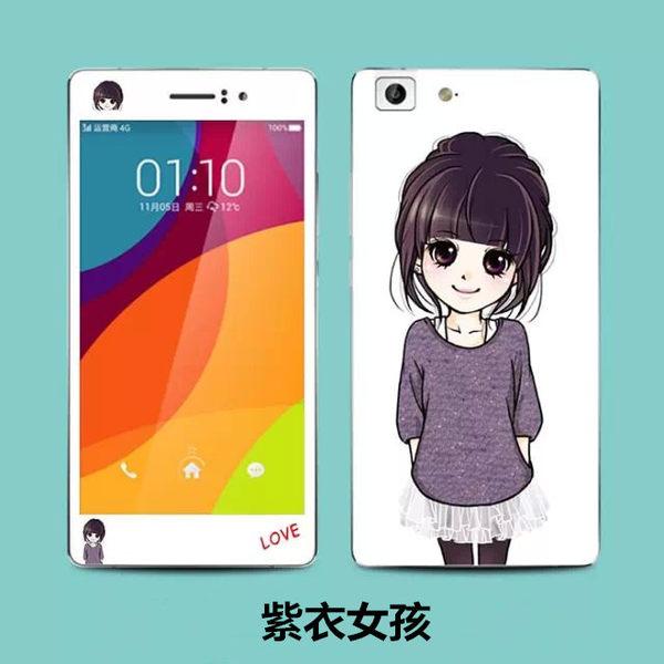 OPPO R5 手機貼 XLT011卡通貼膜 彩膜全身貼高透明螢幕貼 oppo r5 高清