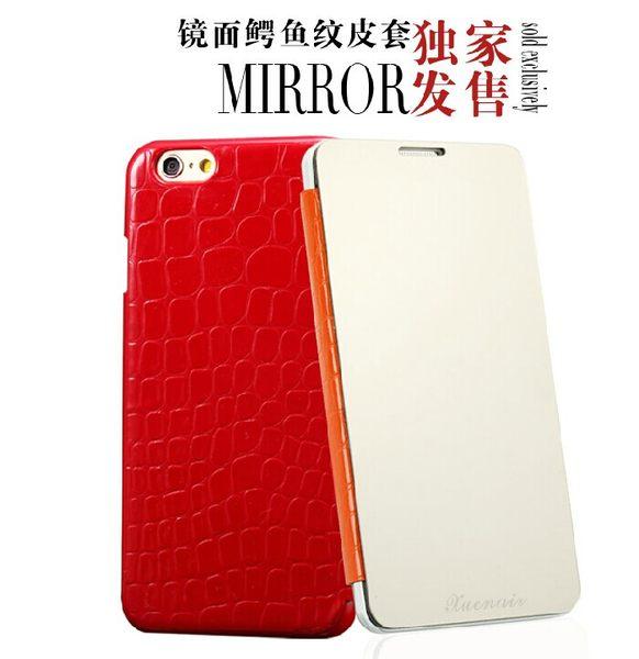 蘋果 iPhone 6 plus 5.5吋 保護套 雪奈兒鏡面鱷魚紋皮套 Apple ip