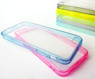 蘋果 iphone 5 糖果色自帶防塵塞軟邊透明殼 iphone 5S 果凍套 清水套 透明保護殼保護套