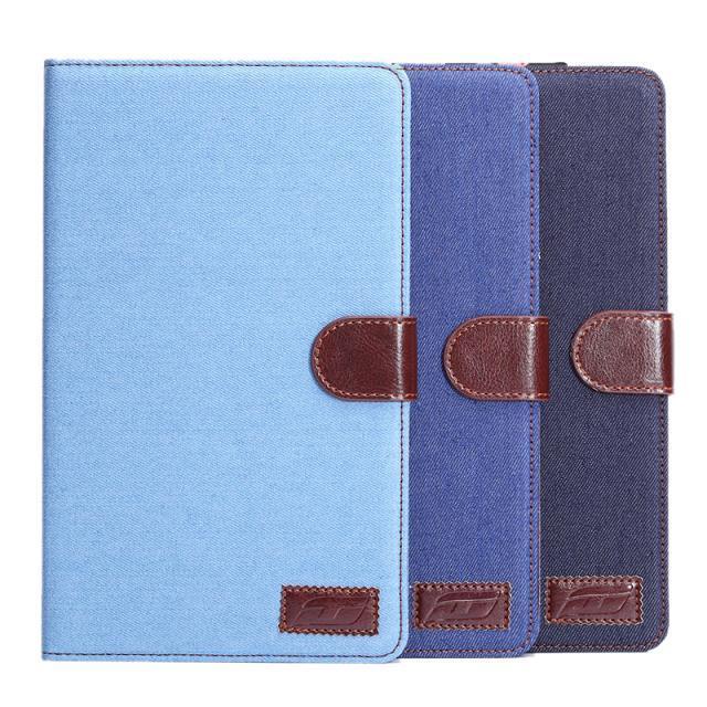 【預購】三星 Tab S T700 牛仔布紋支架插卡皮套 Samsung Tab S 8.4吋平板保護套 側翻手機保護殼