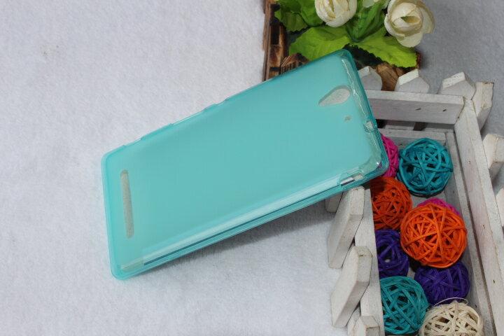 ☆索尼Xperia C3 手機保護套 超薄後殼 彩色布丁套 S55T S55U清水套 軟背殼 現貨
