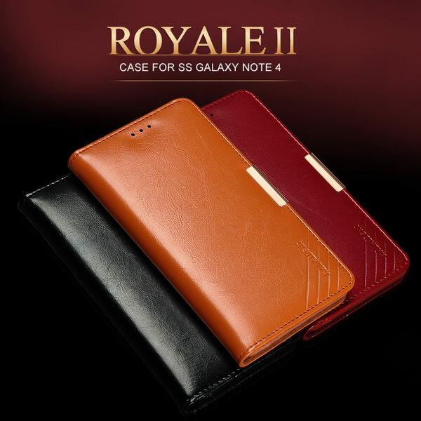 三星Galaxy Note 4保護套 卡來登捨得二系列真皮保護套 Sumsung N9100 手機套 保護殼
