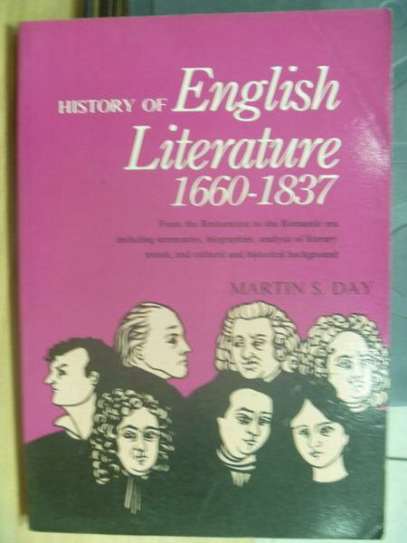 【書寶二手書T4/原文小說_MOI】History of English Literature1660-1837