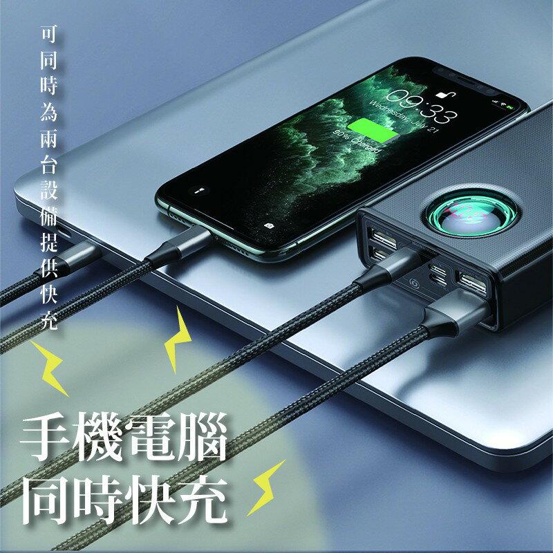 雙向快充LED顯示 65W快充可充筆電30000mAh大容量行動電源 3