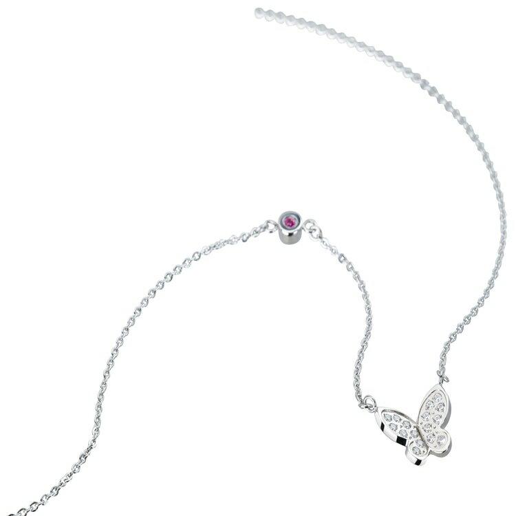 《Esther》飛舞白鋼/鍍鈦金項鍊SNT670