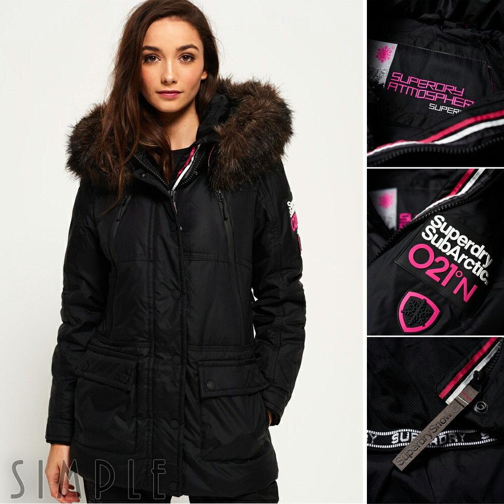 專屬會員天天領券再折250 = 結帳現折100+輸入 【Jan-Fashion】再折150↘ 【女款】 Superdry 極度乾燥Canadian 羽絨滑雪派克外套