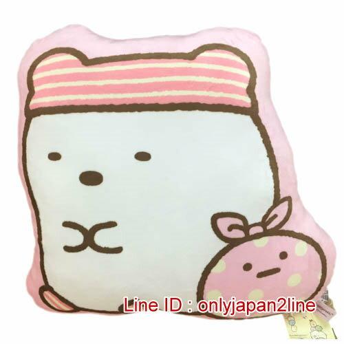 【真愛日本】16122100006角落生物造型抱枕-北極熊   SAN-X 角落公仔  抱枕 靠枕 娃娃