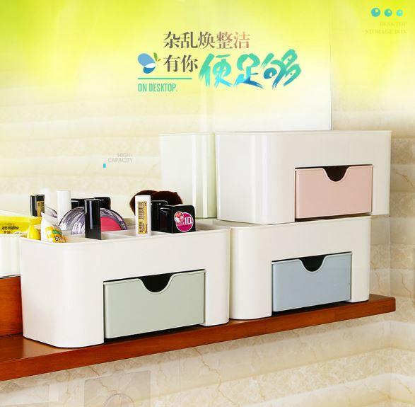 【省錢博士】多功能桌面抽屜式收納櫃 / 化妝品收納盒