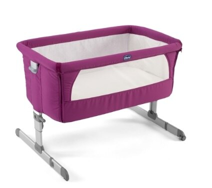 【淘氣寶寶】義大利Chicco Next 2 Me 多功能移動舒適嬰兒床(紫紅)