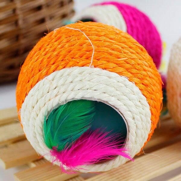 彩色劍麻雙孔羽毛球-小樂寵