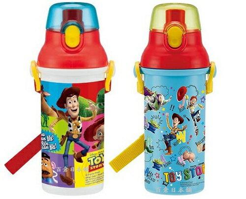 【百倉日本舖】日本製Disney玩具總動員水壺/兒童水壺/直飲式水壺/彈跳式水壺480ml(2款)