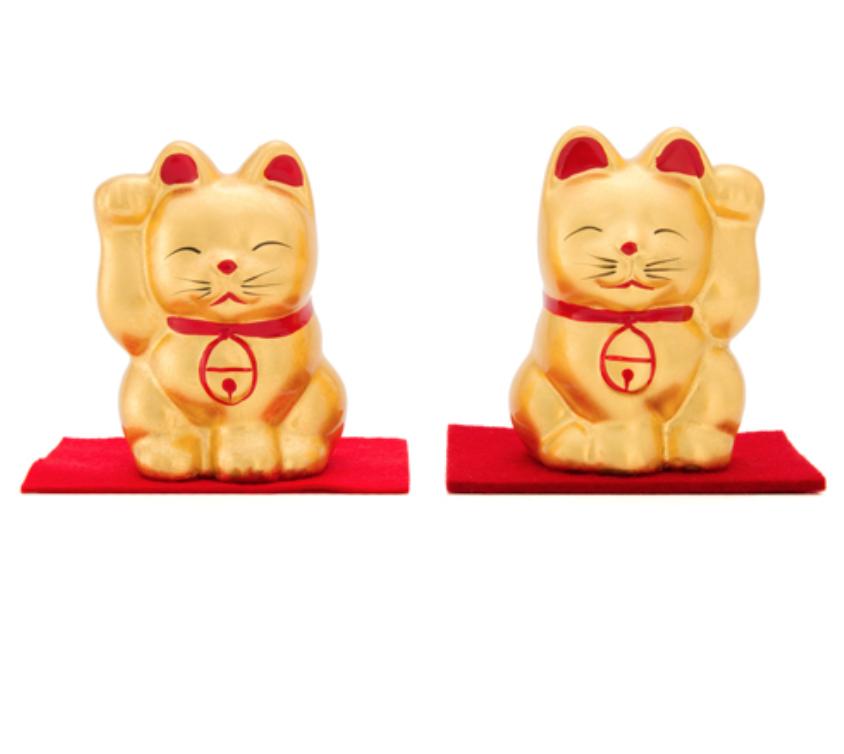 日本 金澤 金箔招財貓  2 號 日本百年老店直送 職人手作貼製 2