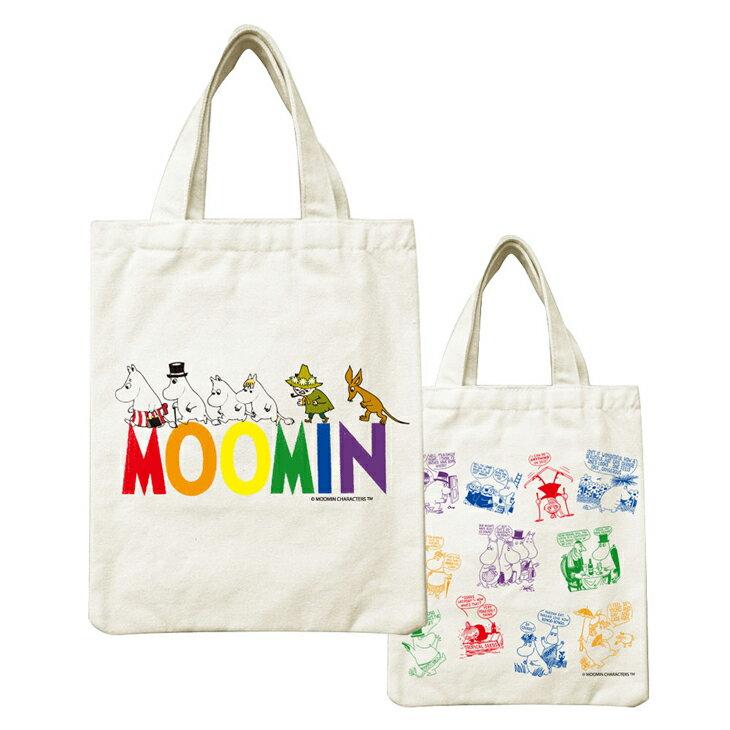 Moomin嚕嚕米正版授權 - 帆布包:【 Happy Family 】