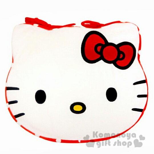 〔小禮堂〕Hello Kitty 造型坐墊《橘.大臉.點點》居家.車用