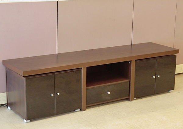 ~尚品 ~611~04 黑玻胡桃 型6.3尺電視櫃長櫃矮櫃客廳櫃^~請來電洽詢
