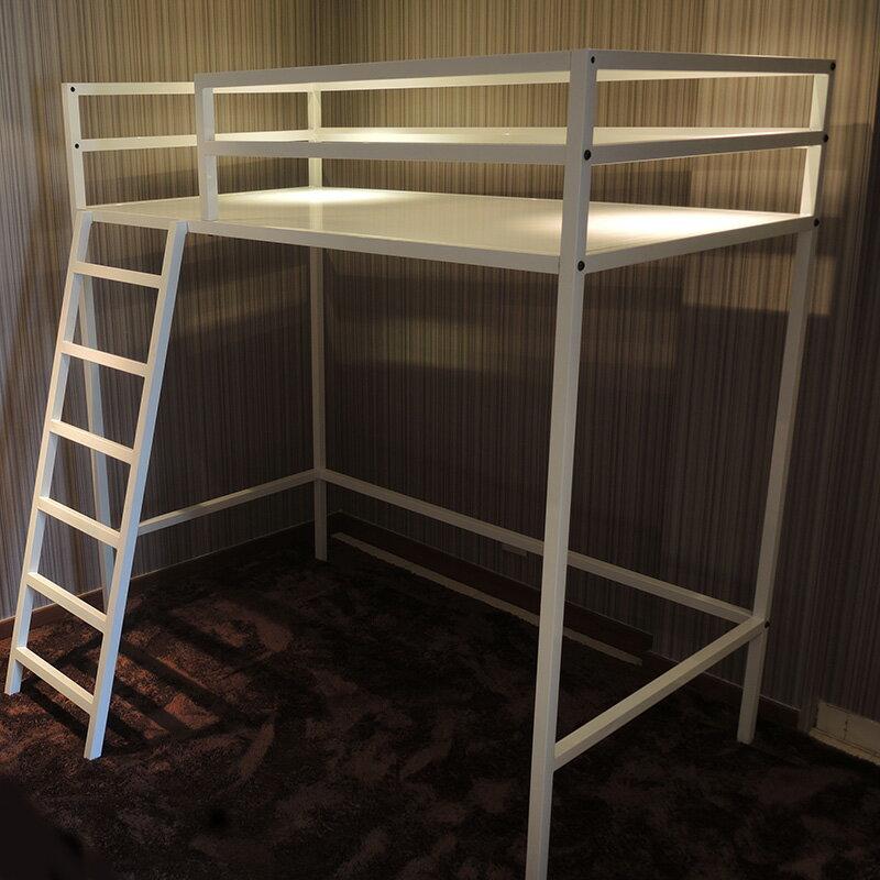 『全新』北歐風設計款 床組 床板 挑高床 三尺 38mm方管架高床單人床 空間特工【O2A718】