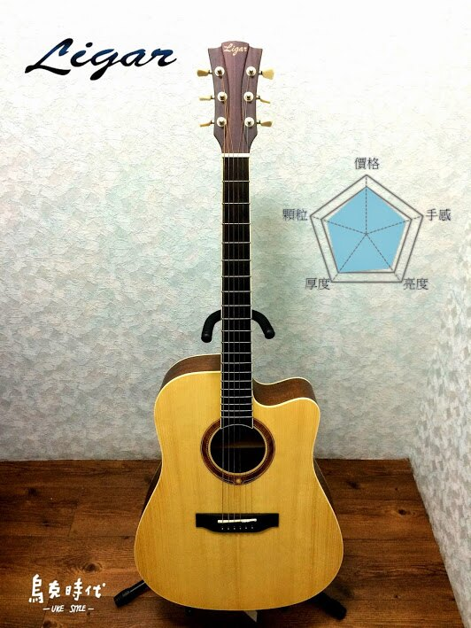 烏克時代~ Ligar 200DC面單板雲杉民謠吉他