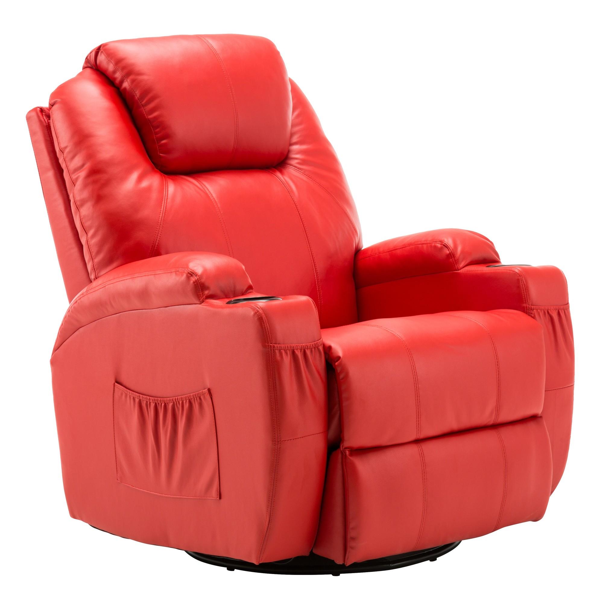 Mcombo Modern Massage Recliner Chair Vibrating Sofa Heated Pu