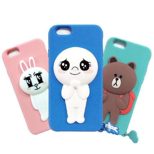 LINE原廠 Apple iPhone 6 4.7吋 Line 熊大 兔兔 饅頭人矽膠保護軟殼【葳豐數位商城】