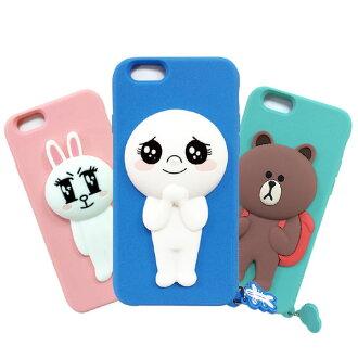 LINE原廠 Apple iPhone 6 PLUS 5.5吋 Line 熊大 兔兔 饅頭人矽膠保護軟殼【葳豐數位商城】