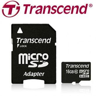 Transcend 創見 MicroSDHC Class10 16G 記憶卡(附轉卡)【葳豐數位商城】