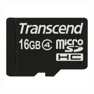 創見Transcend 16GB microSDHC Class4記憶卡(附轉卡)【葳豐數位商城】