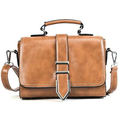 手提包肩背小方包-純色漆皮斜背簡約女包包4色73fc340【獨家進口】【米蘭精品】