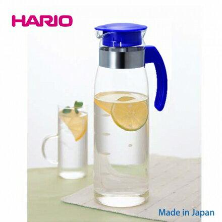 【日本HARIO】高質感耐熱玻璃冷水壺 1400ml (藍色)‧日本製