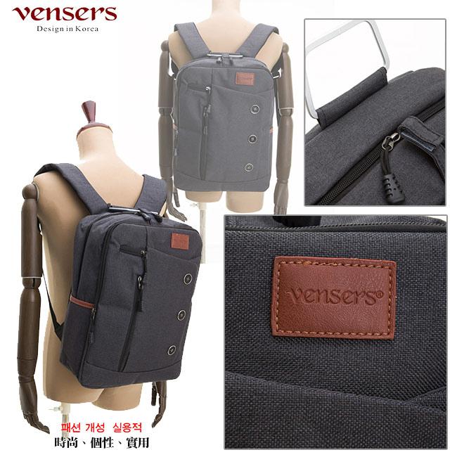 【vensers】簡約丹寧牛仔後背包(R00061602黑色) 3