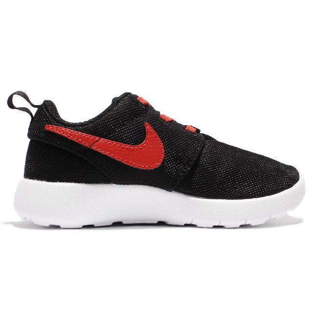 NIKE ROSHE ONE TD 童鞋 小童 慢跑 運動 透氣 輕量 免綁鞋帶 黑 紅【運動世界】749430-036